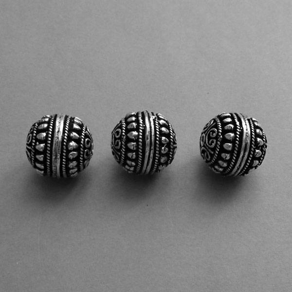 Metall Perle - 16 mm  - Hohl Perle