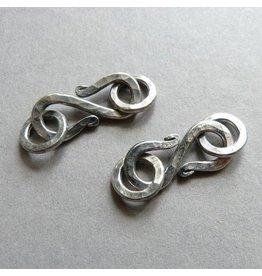 S-Haken Verschluss Silber