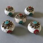 Kashmiri - und Emaille Perlen
