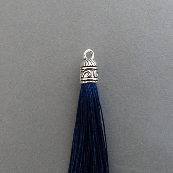 Quaste - blau - 60 mm