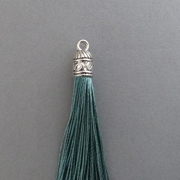 Quaste - smaragd - 60 mm