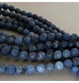 Dumortierit Perle 6,4 mm - matt