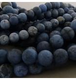 Dumortierit Perle 8 mm - matt