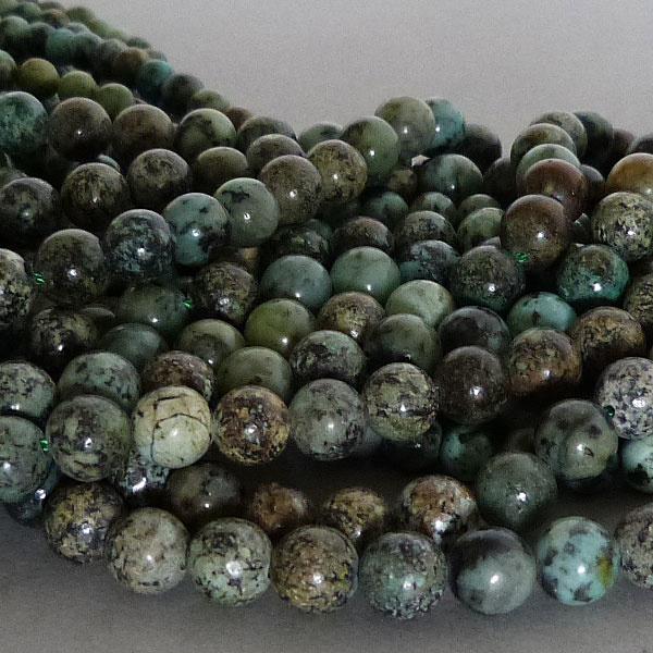 Chrysokoll-Diorit Perle - 6 mm
