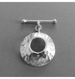 Knebel Verschluss Silber  25 mm