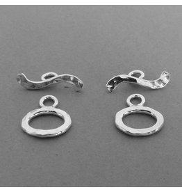 Knebel Verschluss - Silber 12 mm