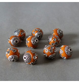 Kashmiri Perle 14 mm - orange