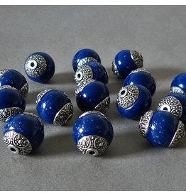 Kashmiri Perle 18 mm - blau