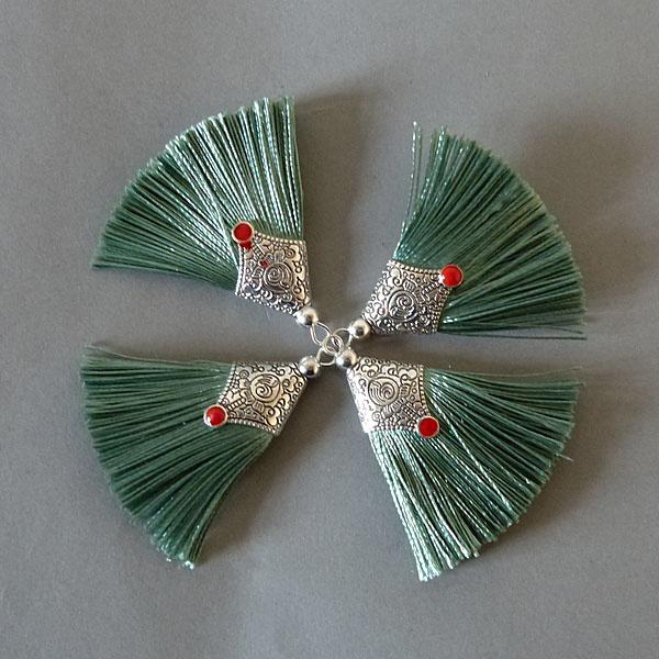 Quaste - smaragd - 45 mm