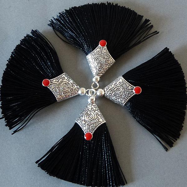 Quaste - schwarz - 45 mm