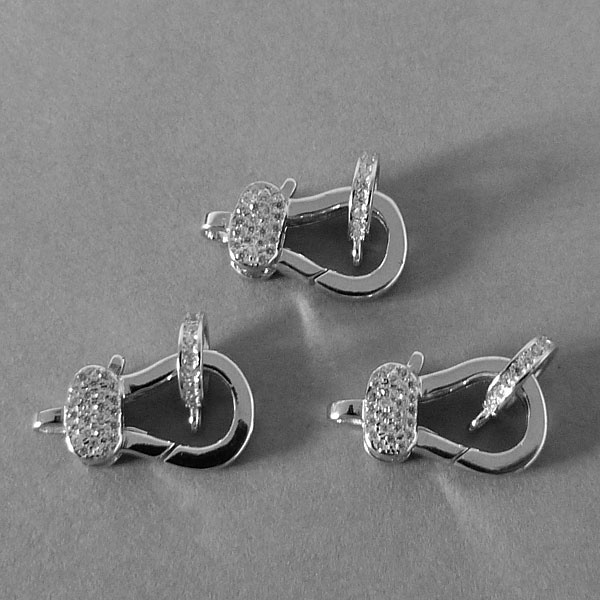 Karabiner Verschluss - Sterling Silber