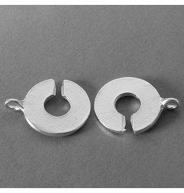 Knebel Verschluss - versilbert - 15 mm