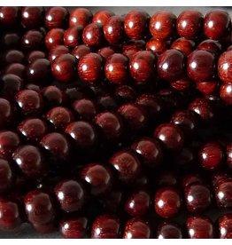 Sandelholz Perle 6,2 mm - rot braun