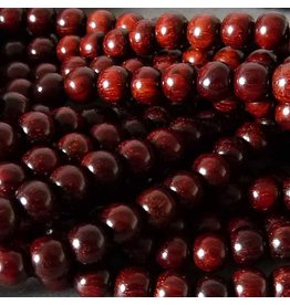 Sandelholz Perle 6,4 mm - rot braun
