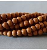 Sandelholz Perle 6,2 mm - natur braun