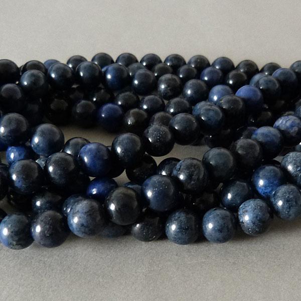 Dumortierit Perle 6,4 mm