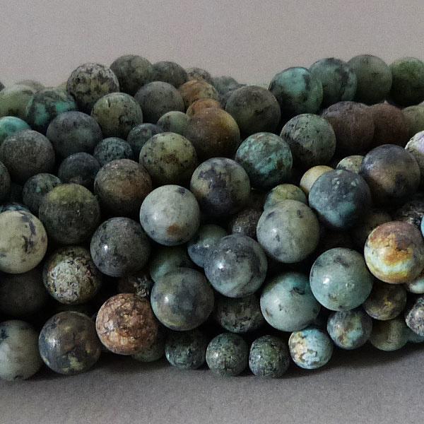 Chrysokoll-Diorit Perle 6,4 mm - matt