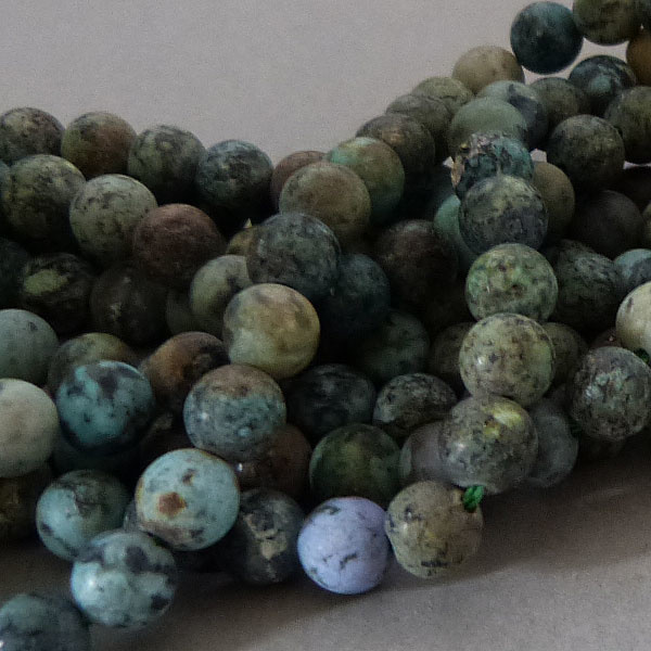 Chrysokoll-Diorit Perle 8,4 mm - matt