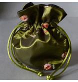 Schmuck Beutel grün 14 cm