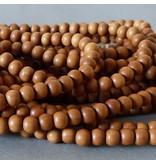 Sandelholz Perle 8 mm - natur braun
