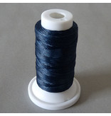 Polyester Garn 0,8 mm - blau - gewachst