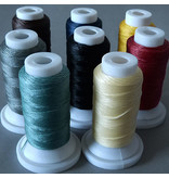 Polyester Garn 0,8 mm - braun - gewachst