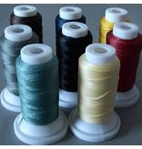 Polyester Garn 0,8 mm - rot - gewachst