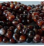 Achat Perle 6,3 mm - braun rote Farben  Vielfalt