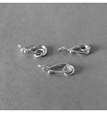 S-Haken Verschluss Sterling Silber - 15 mm
