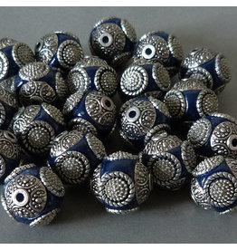 Kashmiri Perle 15 mm - blau