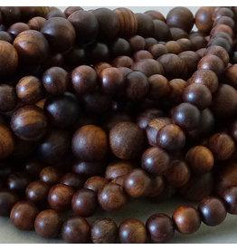 Padauk Holz Perle 6,2 mm - dunkelbraun