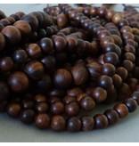 Padauk Holz Perle 8,5 mm - dunkelbraun