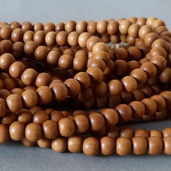 Sandelholz Perle 9,6 mm - natur braun