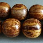 Kamagong Holz Perlen, Sandelholz Perlen und Olivenholz Perlen