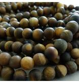 Tigerauge Perle 10,5 mm - matt
