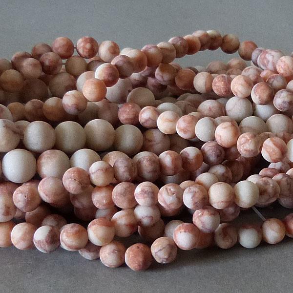 Jaspis Perle 6,1 mm - matt - Netzstein