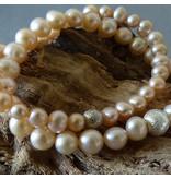 Süßwasser Perlen Armband - rosé - 8 mm Perlen