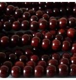 Sandelholz Perle 8,3 mm - rot braun