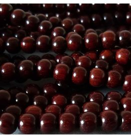 Sandelholz Perle 8,2 mm - rot braun