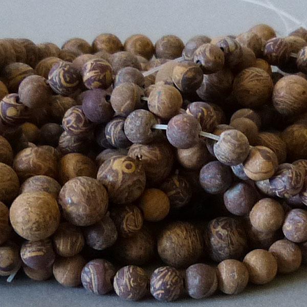 Jaspis Perle 8,5 mm - matt - Elefantenhaut Jaspis
