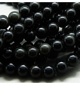 Obsidian Perle 6,3 mm