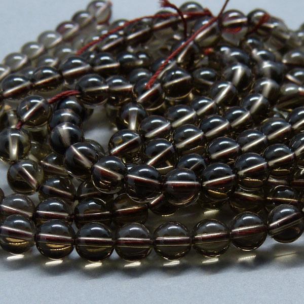 Rauchquarz Perle 6,2 mm