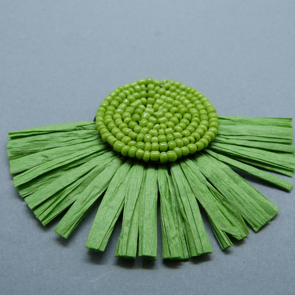 Papier Quaste - grün