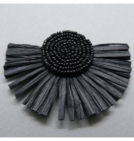 Papier Quaste - schwarz