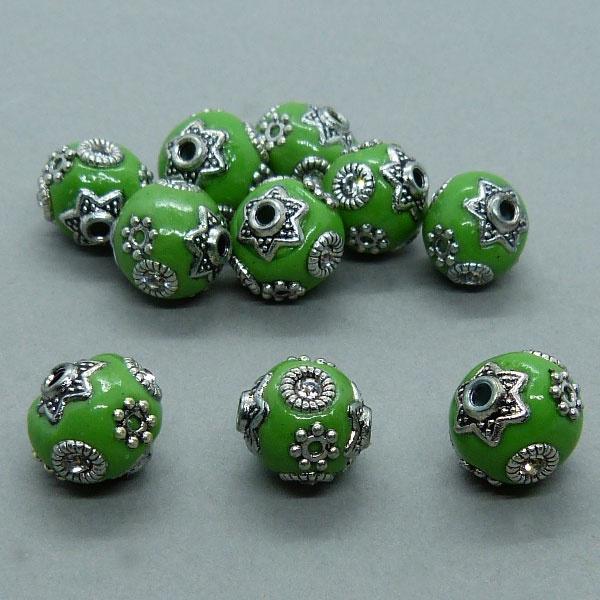 Kashmiri Perle 10 mm - grün