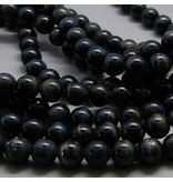Tigerauge Perle blau 6,3 mm