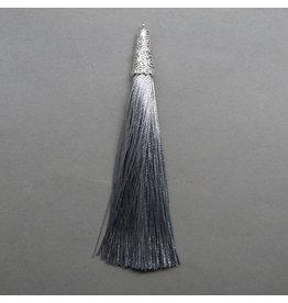 Quaste - silber - 90 mm