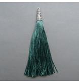 Quaste - smaragd - 90 mm