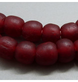 Glas Perle 15 mm  - rot