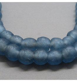 Glas Perle 10 mm - Aqua blau